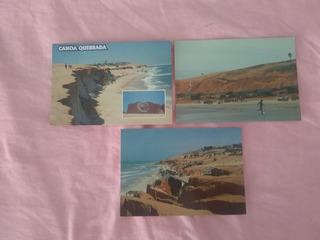 Pacote Com 3 Cartoes Postais De Praias Em Aracati