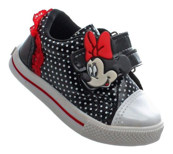 Tenis Sapato Minnie Infantil Feminino Meninas