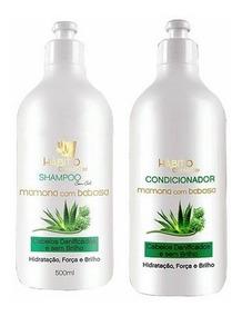 Shampoo+condicionador Pro Mamona E Babosa Hábito Cosméticos