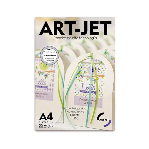 Papel Autoadhesivo Foto A4 Glossy Art-jet® X 100 Hojas 115gr