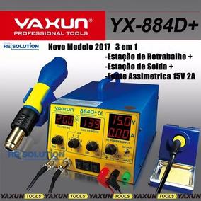 Estação De Solda 2017 3em1 Yaxun 884d+ Fonte + Solda + Ar