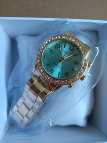 Relógio Feminino Aço De Pulso Adultos 12x S/ Juros
