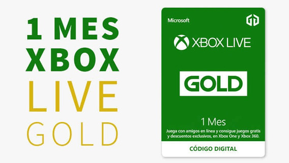 Xbox Live Gold 1 Mes Código (no Cuentas) L E E R