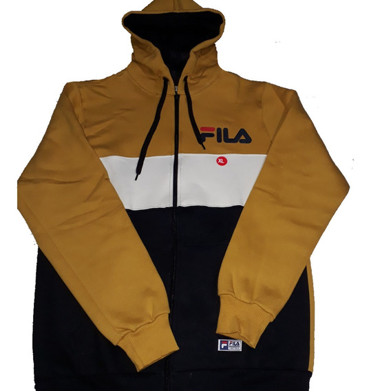 Campera Fila C/ Capucha Tricolor Xl Y Xxl