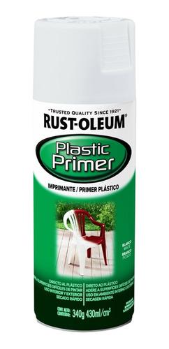 Imagen 1 de 2 de Rust-oleum Pintura Aerosol Imprimante Plástico Blanco 340g