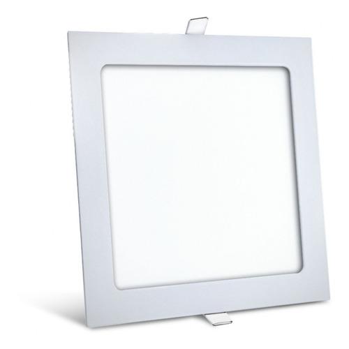 Imagen 1 de 7 de Panel Led De Embutir Cuadrado Blanco 12w Interelec