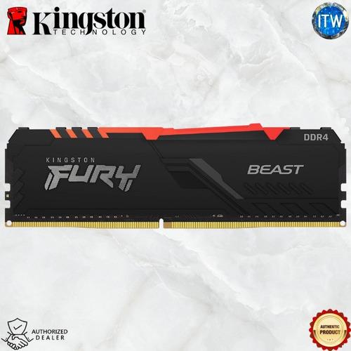 Imagem 1 de 3 de Memoria Ram Gamer Fury Beast Rgb 16gb 3200mhz Nova Original!