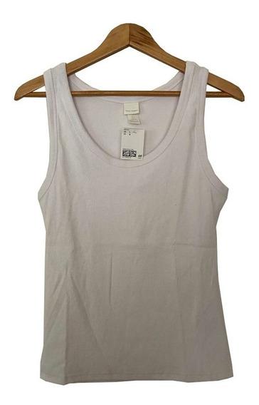Remera Musculosa De Algodón Blanca Importada H & M