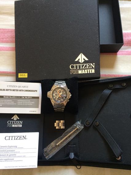 Citizen Aqualand 3740 C/pulseira De Aço Com Extensor Estojo
