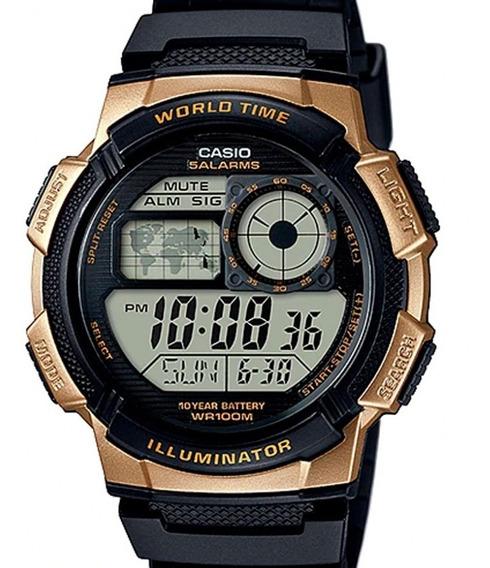 Relógio Casio Masculino Mapa Mundial Ae-1000w-1a3vdf