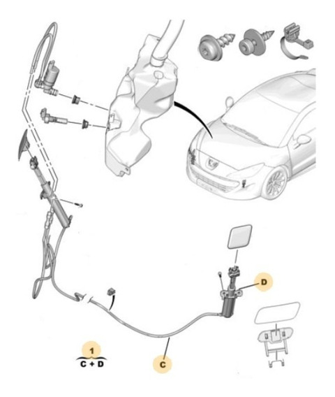 Eyector Lavafaro Izquierdo Peugeot Rcz 1.6 Thp
