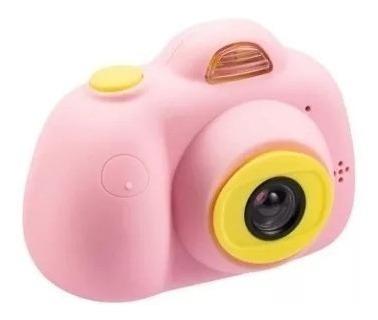 Mini Câmera Digital Filmadora Infantil Fotos Videos Rosa