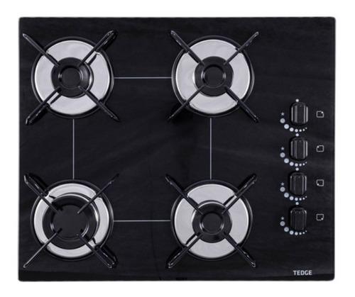 Fogão cooktop a gás Tedge TD113954 preto