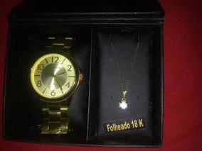 Relógio Feminino Lince Original Dourado