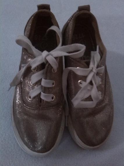Zapatos Deportivos Shiny Color (duni) Importado 30/32 Niña