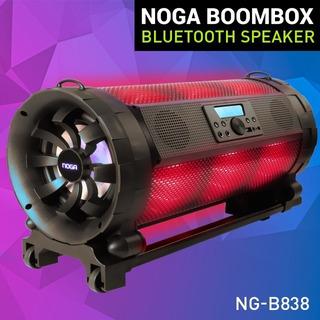 Parlante Noga Bluetooth Ng-b838 Luces Led Fm Aux