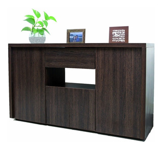 Mueble Para Tv Modular Bahiut 160x92x45cm 560 Tabaco
