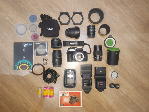Câmera Pentax Z- 1p / Lente Makinon 135mm/ Lente Sigma