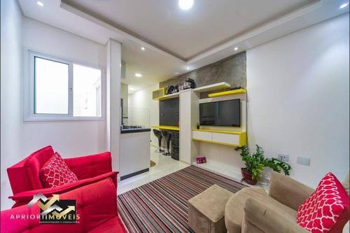 Cobertura À Venda, 84 M² Por R$ 375.000,00 - Vila Alice - Santo André/sp - Co1003