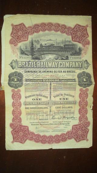 Apólice Brazil Railway Company - 1912