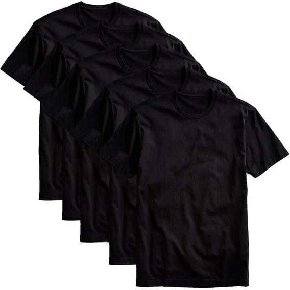 Kit 5 Camisetas Básicas Masculina T-shirt Algodão Colors Tee