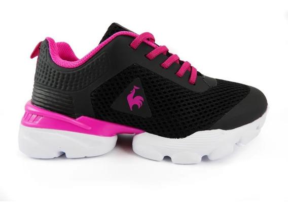 Zapatillas Niños Le Coq Sportif Foild Negro/pink New