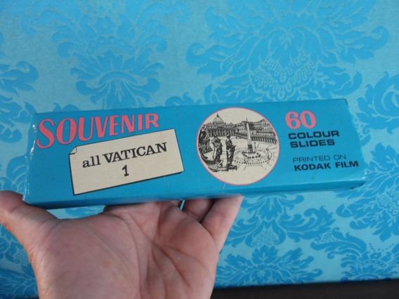 Slides Antigos 60 Unidades Vaticano Coloridos Kodak