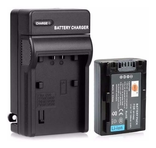 Bateria Np-fh50 + Carregador Para Sony Cyber-shot Dsc-hx100v