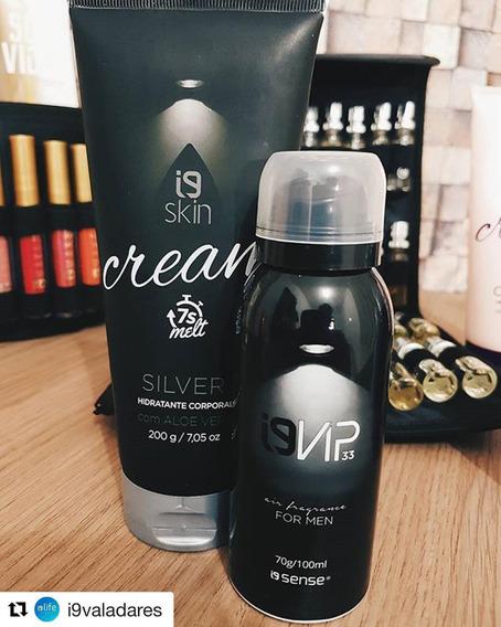 Perfume Aerossol, Silver Scent + Hidratante 200 Ml