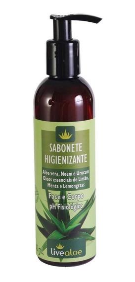 Sabonete Higienizante Líquido Orgânico Vegano - Live Aloe