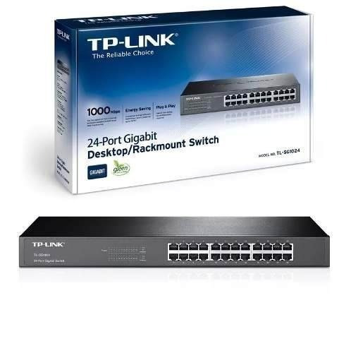 Switch Tp-link Tl-sg1024 24 Puertos Rj45 10/100/1000 Mbps