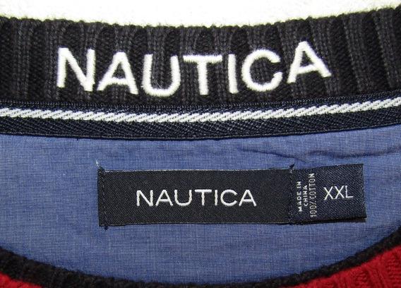 Nautica Sweater Rojo Talla X X L