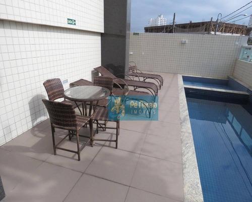 Imagem 1 de 30 de Apartamento Com 2 Dormitórios À Venda, 90 M² Por R$ 435.000 - Vila Guilhermina - Praia Grande/sp - Ap0274
