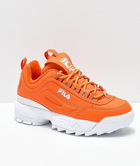 Tenis Fila Disruptor 2 Orange Blanco Con Naranja Originales