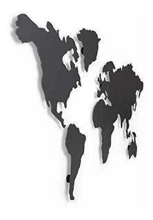 Mapa Marcar Visitas 12 Imanes Pared Color Titanio 52 X 33cm