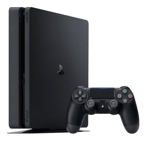 Sony PlayStation 4 Slim 1TB Mega Pack: Grand Theft Auto V Premium Edition/God of War/Death Stranding color  negro azabache