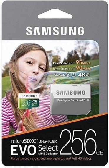 Cartão De Memória Micro Sd Samsung Evo Select 256gb 4k Ultra