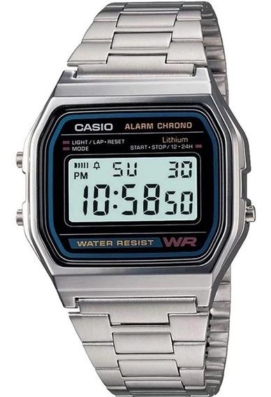 Relógio Casio Feminino Vintage Cristal A158wad-1df-br + Nf