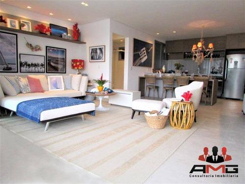 Apartamento Com 2 Dormitórios À Venda, 87 M² Por R$ 2.054.956,26 - Riviera - Módulo 5 - Bertioga/sp - Ap1667
