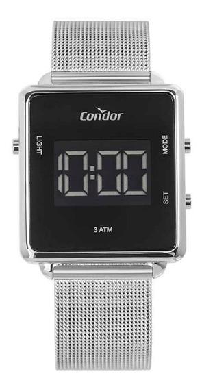 Relógio Condor Unissex Digital Cobjf156ae/3k Prata Lançament