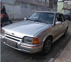 Ford Escort Motor Ap 1.8 Gasolina 1990 Prata 2 Portas