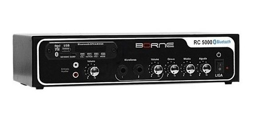 Amplificador Som Ambiente 40w Com Bt/usb Rc 5000 Borne
