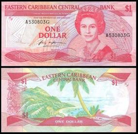 Grenada (g) 1 Dollar 1985 P. 17g Fe Cédula Rainha Tchequito