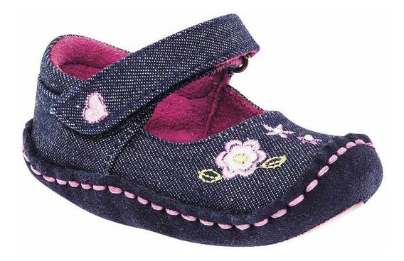 Zapato Ensueño 3284-31 Niña Bebe Talla 10-13 Color Mezclilla