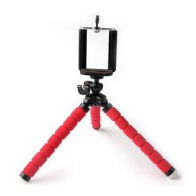 Mini Tripé Flexível Ajustavel Celulares Kit Youtuber