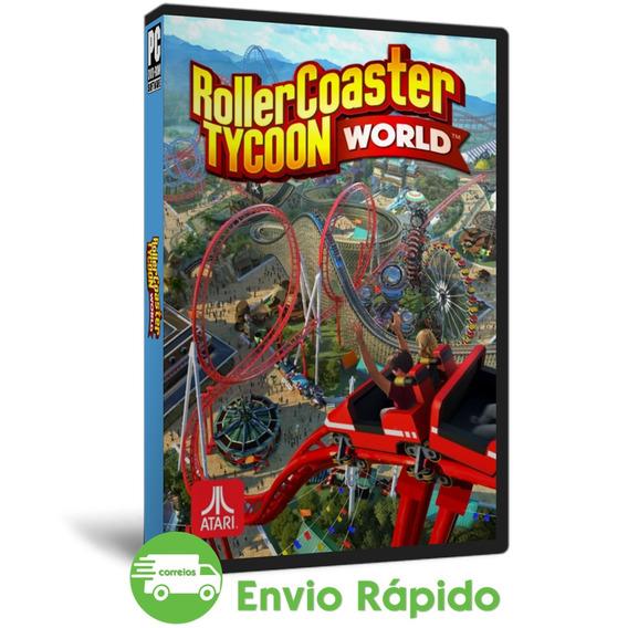 Rollercoaster Tycoon World Pc Português Simulador Mídia Dvd
