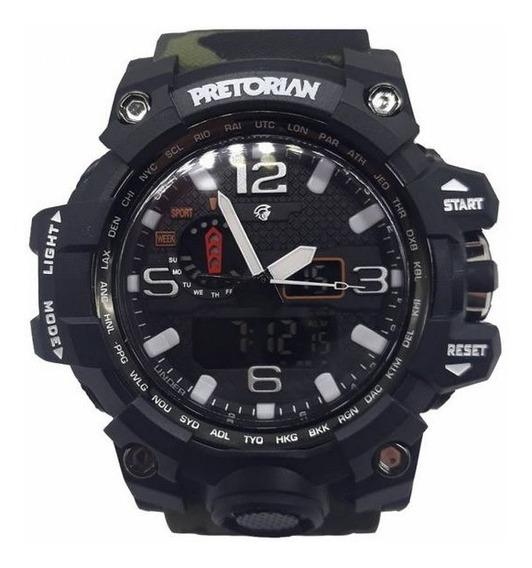 Relógio Pretorian Combat Black Military Green (wprt-08-3)