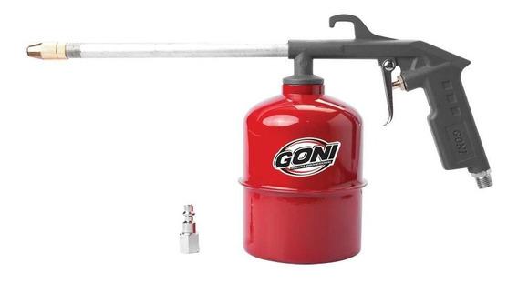 Pistola Para Limpieza De Motores Con Vaso Goni 369 1000 Cc