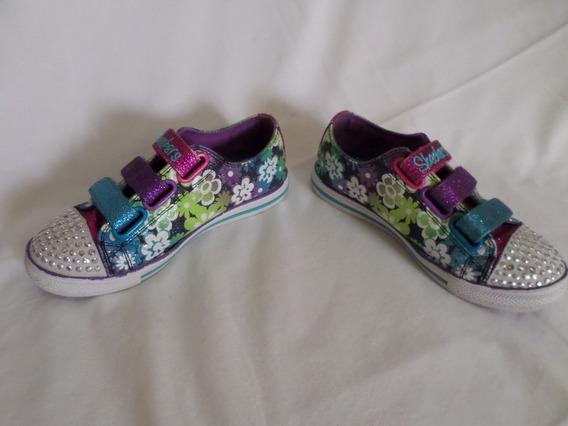 Zapatos Skechers Con Luces Talla 31 Ó 13,5 Us 20$