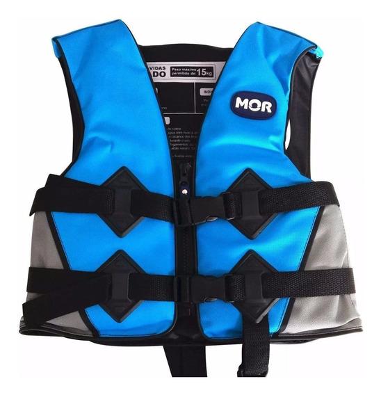 Colete Boia Salva Vidas Reforçado Flutuante Infantil Azul